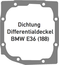 Dichtung BMW E36 Differentialdeckel